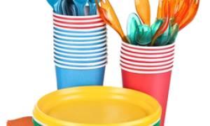 Польза одноразовой пластиковой посуды и правила ее использования