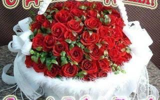 Поздравительные розы. Красивый букет с днем рождения (54 картинки с пожеланиями)